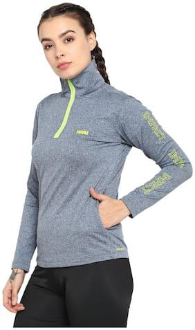 Yuuki Women Solid Sports Jacket - Blue