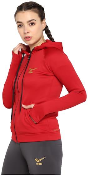 Yuuki Women Solid Sports Jacket - Red