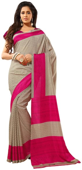 Yuvanika Multi Color Silk Blend Saree