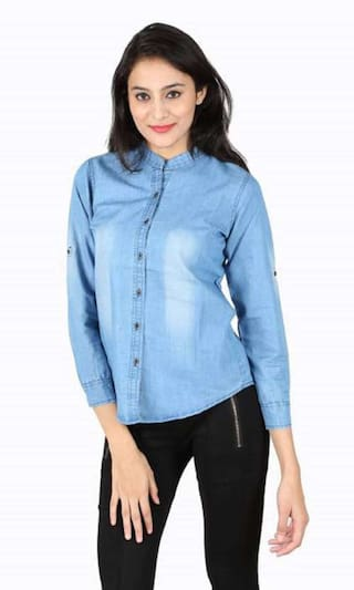 Casual Women Denim Shirts ZA ENTERPRSES a6qOZZ