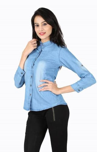 Denim ZA ENTERPRSES Women Shirts Casual xvAYzvfqw