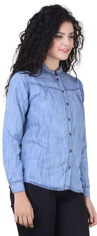 ENTERPRSES Shirts Women Casual Denim ZA UvdzqBd