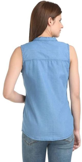 Shirts ENTERPRSES Casual Women ZA Denim wq4TxRA6v