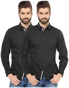 Zavlin Men Slim Fit Casual shirt - Black