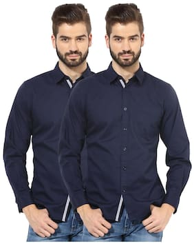 Zavlin Men Regular Fit Casual shirt - Blue