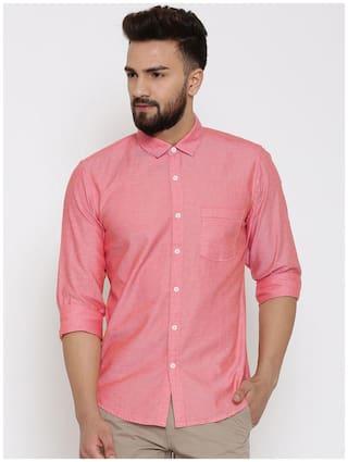 Zavlin Men Slim fit Casual shirt - Orange