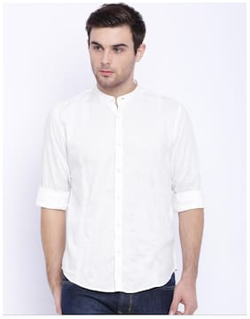 Zavlin Men Slim fit Casual shirt - White