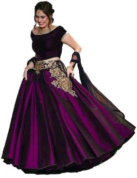 Zax Designer Party Wear Silk Flared Lehenga Choli - Multi