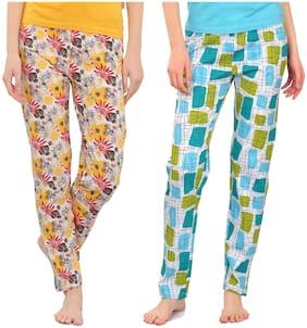 Zebu Women Cotton Floral Pyjama - Multi