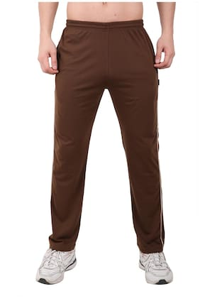 Zeffit Men Brown Solid Regular fit Track pants