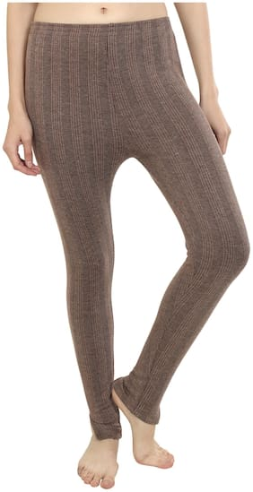 Zeffit Women Cotton Thermal bottom - Brown