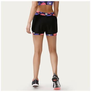 Print Pop Shorts Black Fresh Double Layered Zelocity N BA40qw1q