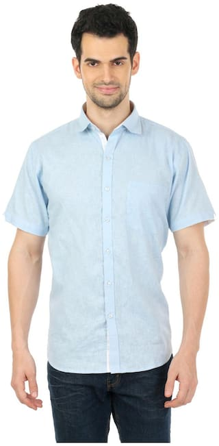 Zido Men Regular Fit Formal Shirt - Blue