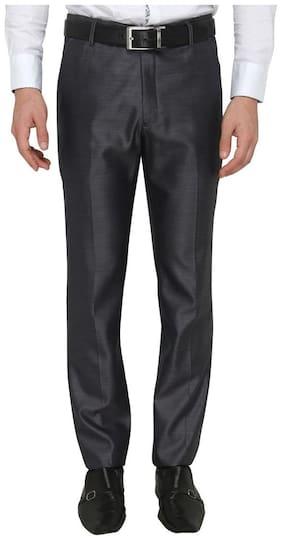 Zido Men'S Slim Fit Blue Formal Trouser_ZI15071_BLUE