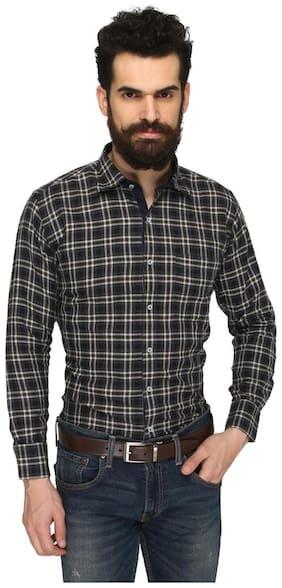 ZIDO Multicolor COTTON Checkered Shirt for Men's BTCH1362_Multi_44