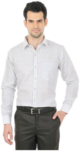 Zido Men Regular fit Formal Shirt - White