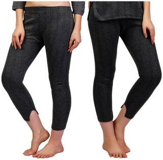 ZIMFIT Women Blended Thermal bottom - Grey