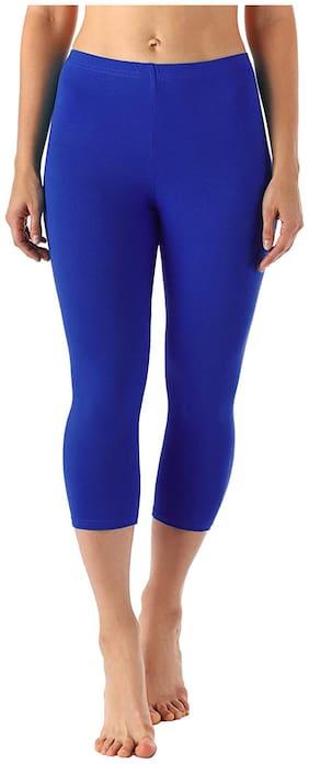 Zindwear Women Solid Regular capri - Blue