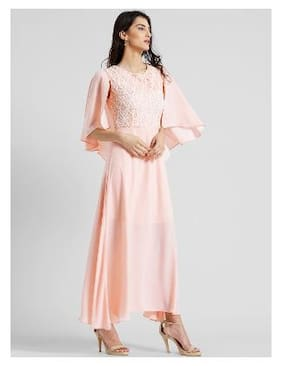 92154ce70efcf Zink London Round Neck Solid Maxi Dress for Women