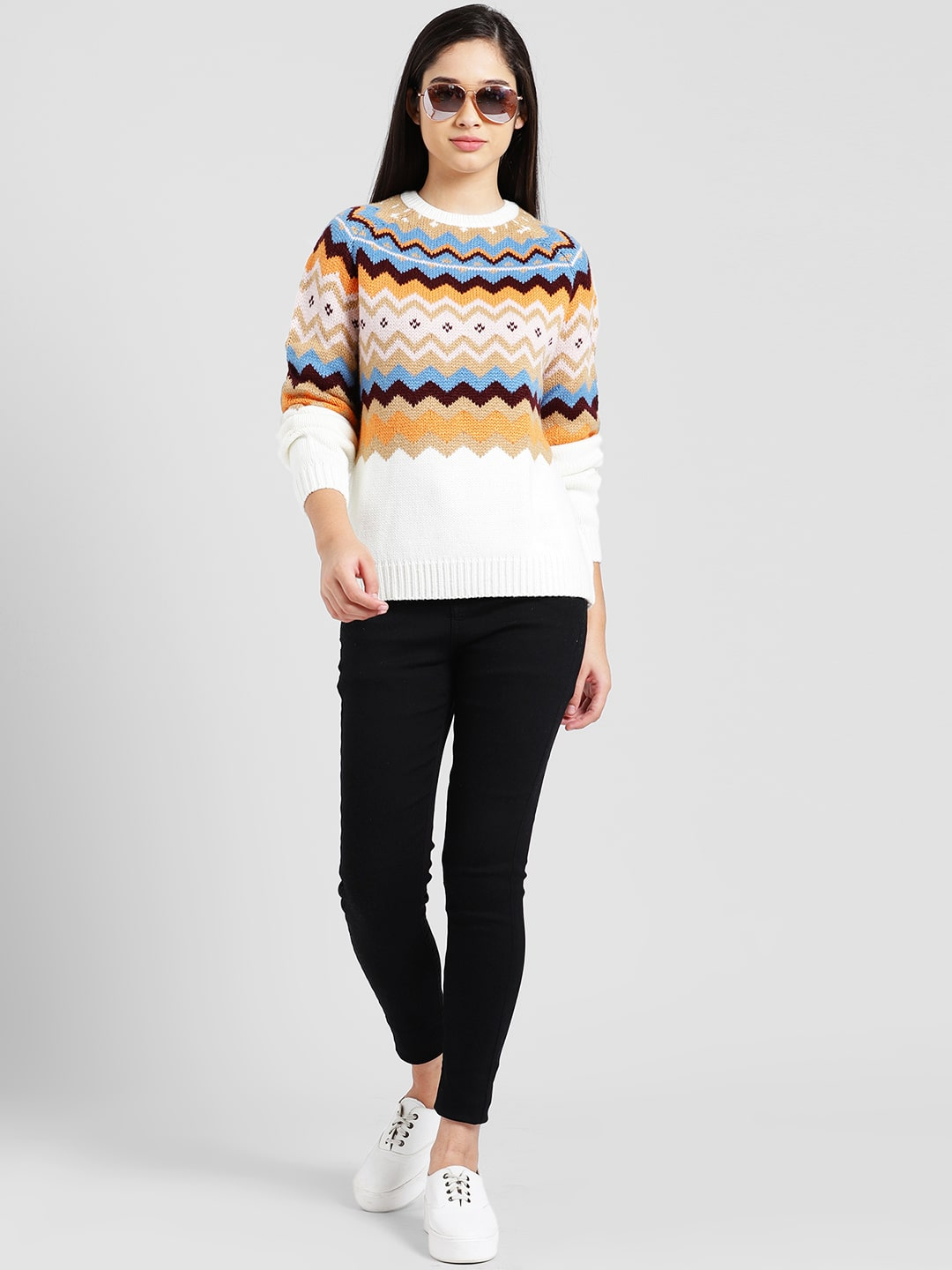 d3d256a54 Buy Zink London Raglan Sweater Top With Aztec Design for Women Online at  Low Prices in India - Paytmmall.com