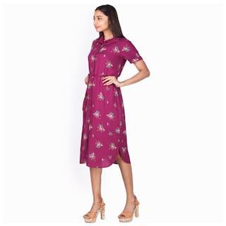 for London Shirt Printed Dress Purple Zink Women C4qwzpz