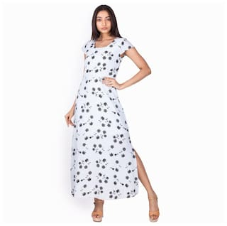 White Dress And Fit Printed Zink Women for Flare London qPCT5wH