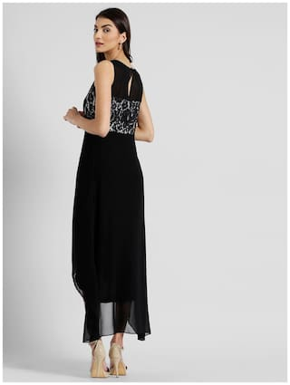 Dress Round London Neck Zink Women Solid Maxi for Aq18ACwx