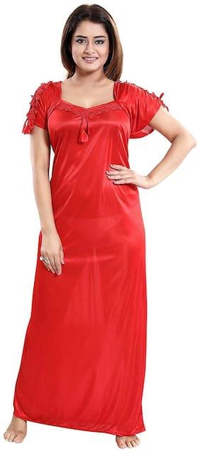Women Solid Nightdress
