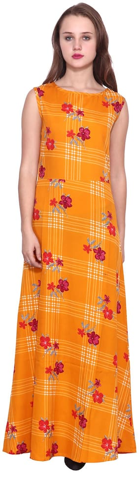 ZISAAN Yellow Floral Maxi dress
