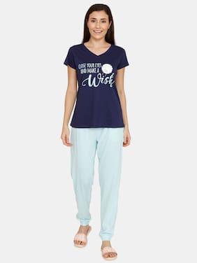 Printed Top and Pyjama Set