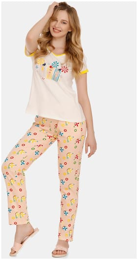 Printed Top and Pyjama Set