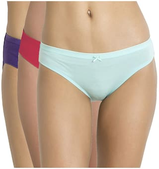 931ce8343dd Buy Zivame Mid Rise Bikini Brief (Pack of 3)-Assorted Online at Low ...