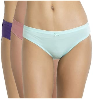 fbb4c579ae Buy Zivame Mid Rise Bikini Brief (Pack of 3)-Assorted Online at Low ...