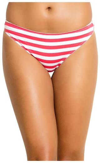 1fe4caa1c09 Buy Zivame Mid Rise Bikini Panty - Red N Print Online at Low Prices ...