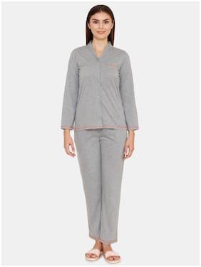 Solid Top and Pyjama Set