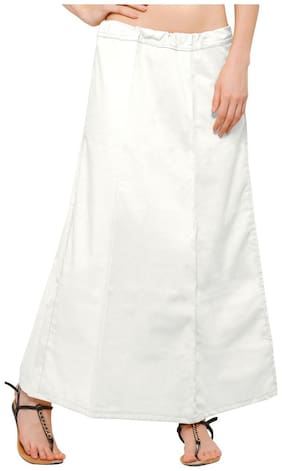 Ziya White Pure Cotton Petticoat