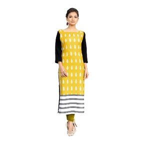 Ziyaa Multi Color Digital Print Crepe Kurti