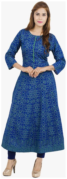 Women Printed Anarkali Kurta ,Pack Of 1