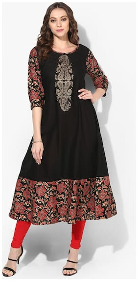 Women Printed Layered Kurta ,Pack Of 1