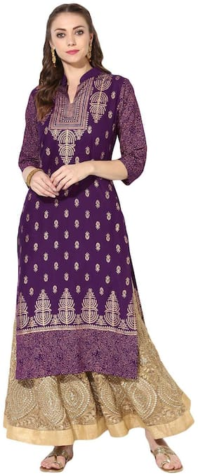 Women Printed Straight Kurta ,Pack Of 1