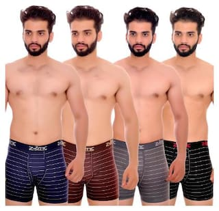 ZOTIC Striped Trunks - Multi ,Pack Of 4
