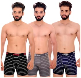 Men Cotton Striped Underwear ,Pack Of 3