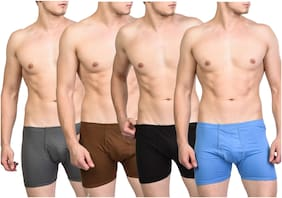 ZOTIC Solid Trunks - Multi ,Pack Of 4