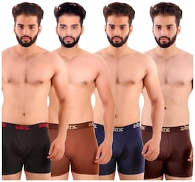 Men Cotton Solid Underwear ,Pack Of 4