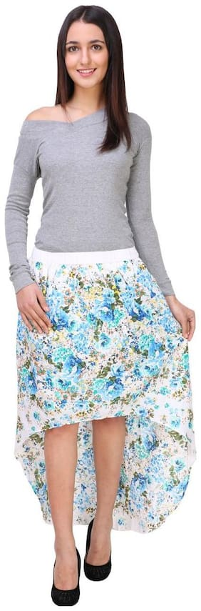 ZOYS Womens' Multicolor Floral Printed Cotton Skirt
