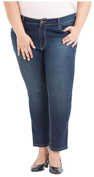 Blend Jeans Plus Women's Blue Medium Zush For Fit Regular Cotton Size Stretchable Wqwn6SYU