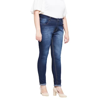 Jeans Fit Zush Blue For Dark Women's Stretchable Blend Regular Size Plus Denim Cotton EEBSqvw