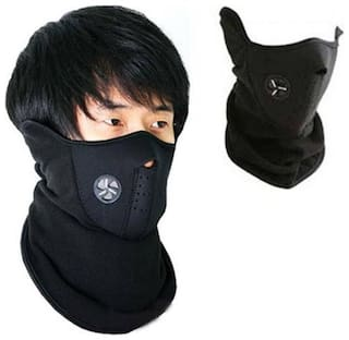 1 PLUS Bike Riding & Cycling Anti Pollution Dust Sun Protecion Half Face Cover Mask Set of 1