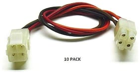 10 PACK - 4 PIN MPC Series Locking Mating - Color-Coded 18 AWG Wire Loop # MPC-4