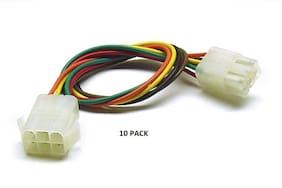 10 PACK - 6 PIN MPC Series Locking Mating - Color-Coded 18 AWG Wire Loop # MPC-6